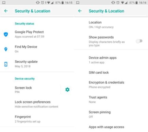 La sécurité sur Android